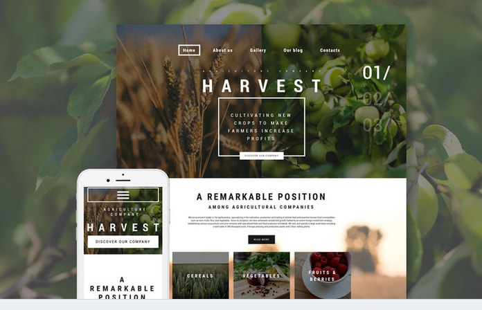 harvest business wordpress theme