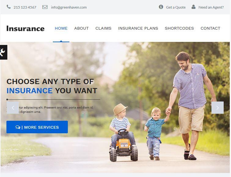 Insurance - Consulting WordPress Theme