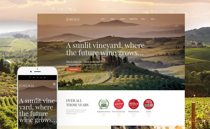 jorden wine business wordpress theme