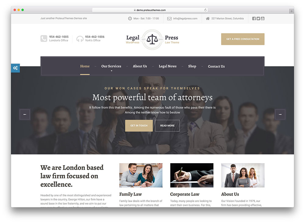 LegalPress Insurance WordPress Theme