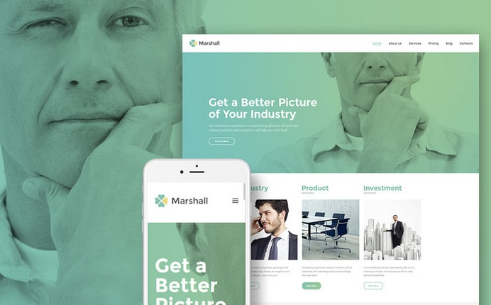 marshal business analysis wordpress theme