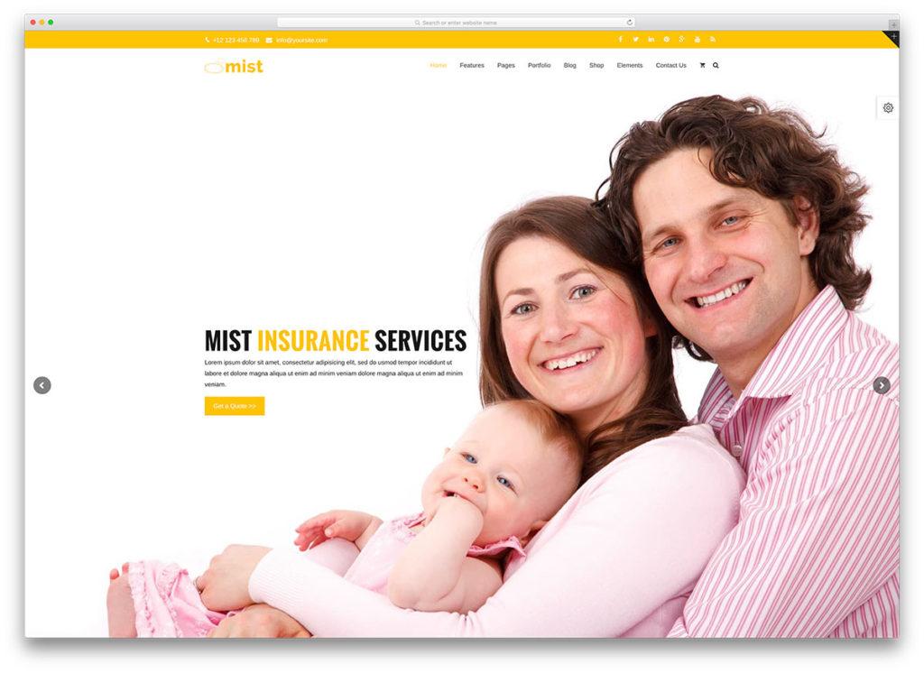 mist-insurance-website-template