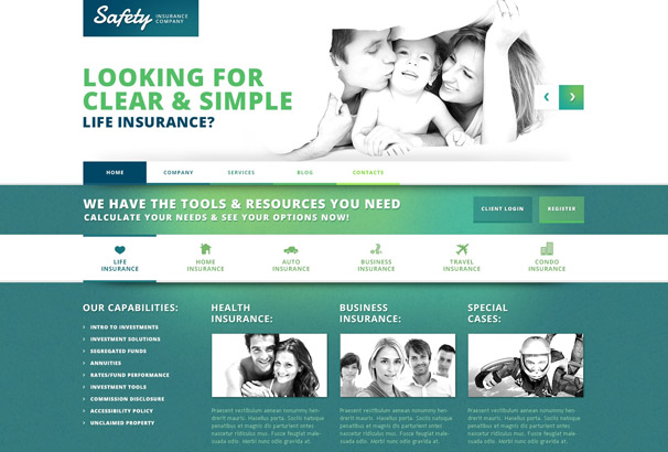 safety wordpress insurance theme