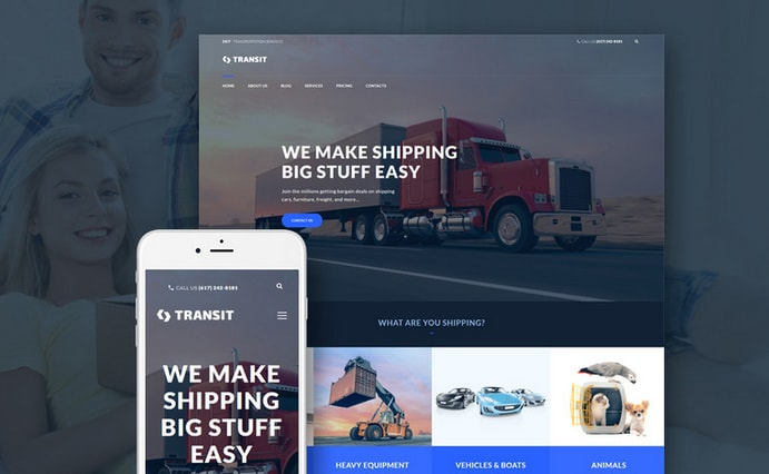 transit wordpress business template