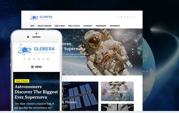 Globera Responsive WordPress Business Themes