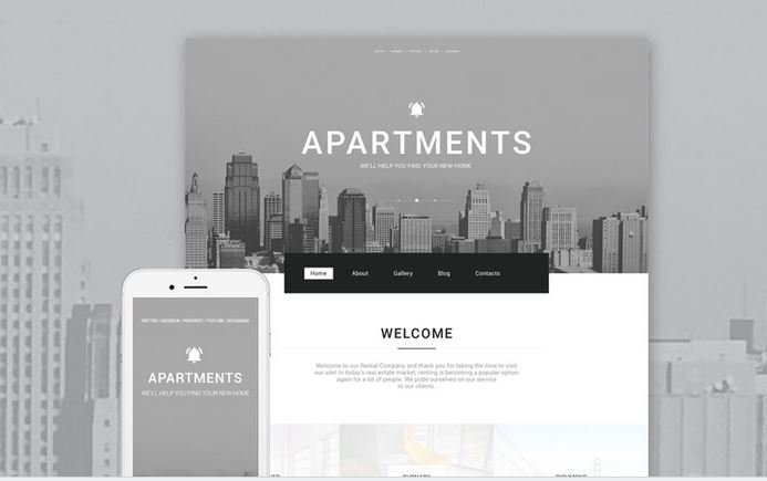apartments business responsive theme