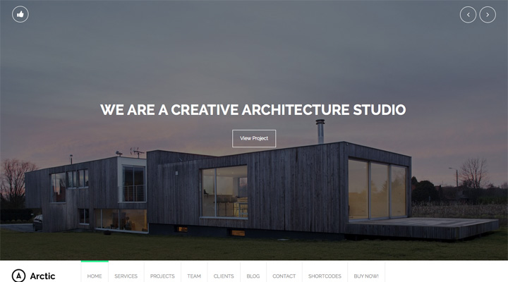 arctic-fullscreen-architect-wordpress-theme