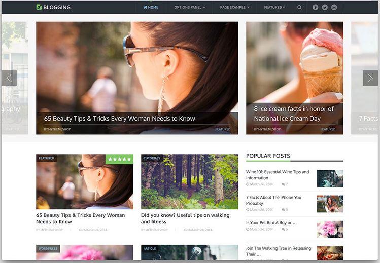 blogging minimal entertainment blog theme