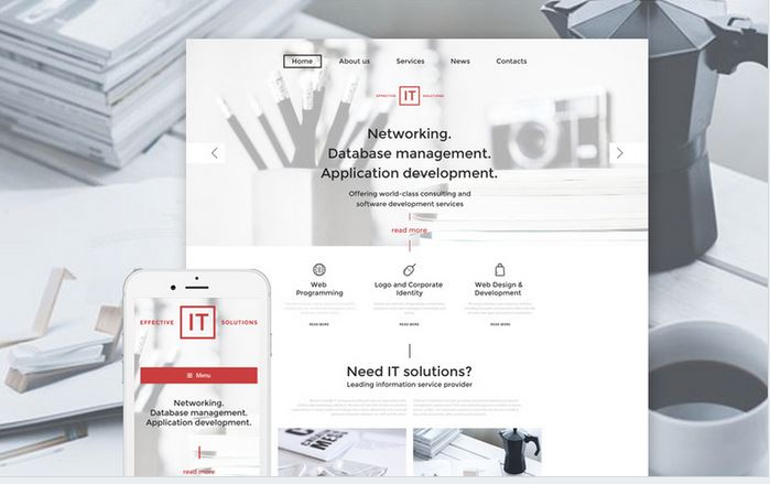 effective it responsive business theme for wordpress