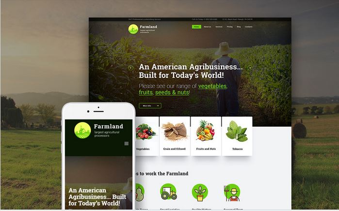 farmland responsive wordpress business theme