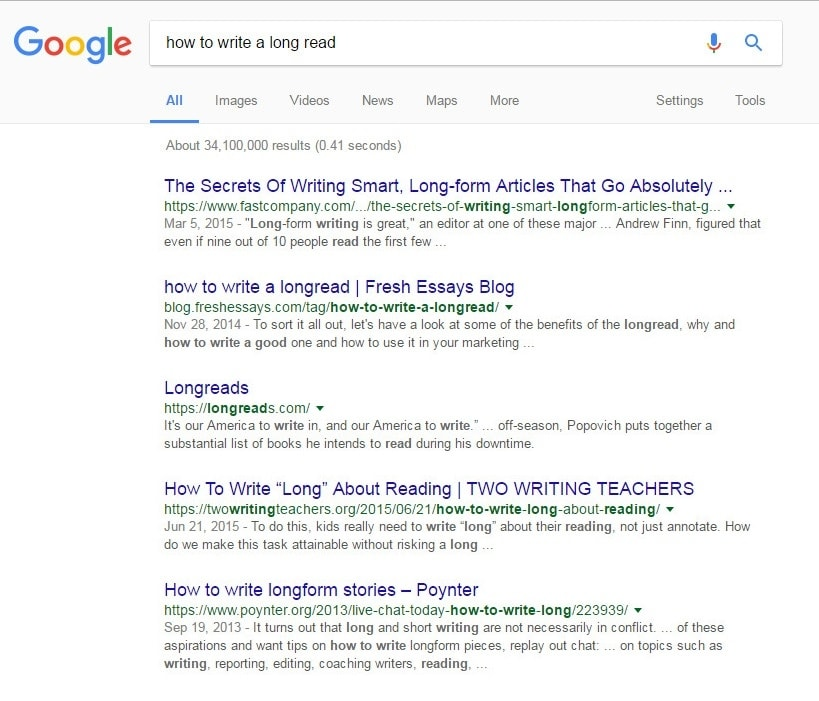 how to write a longread