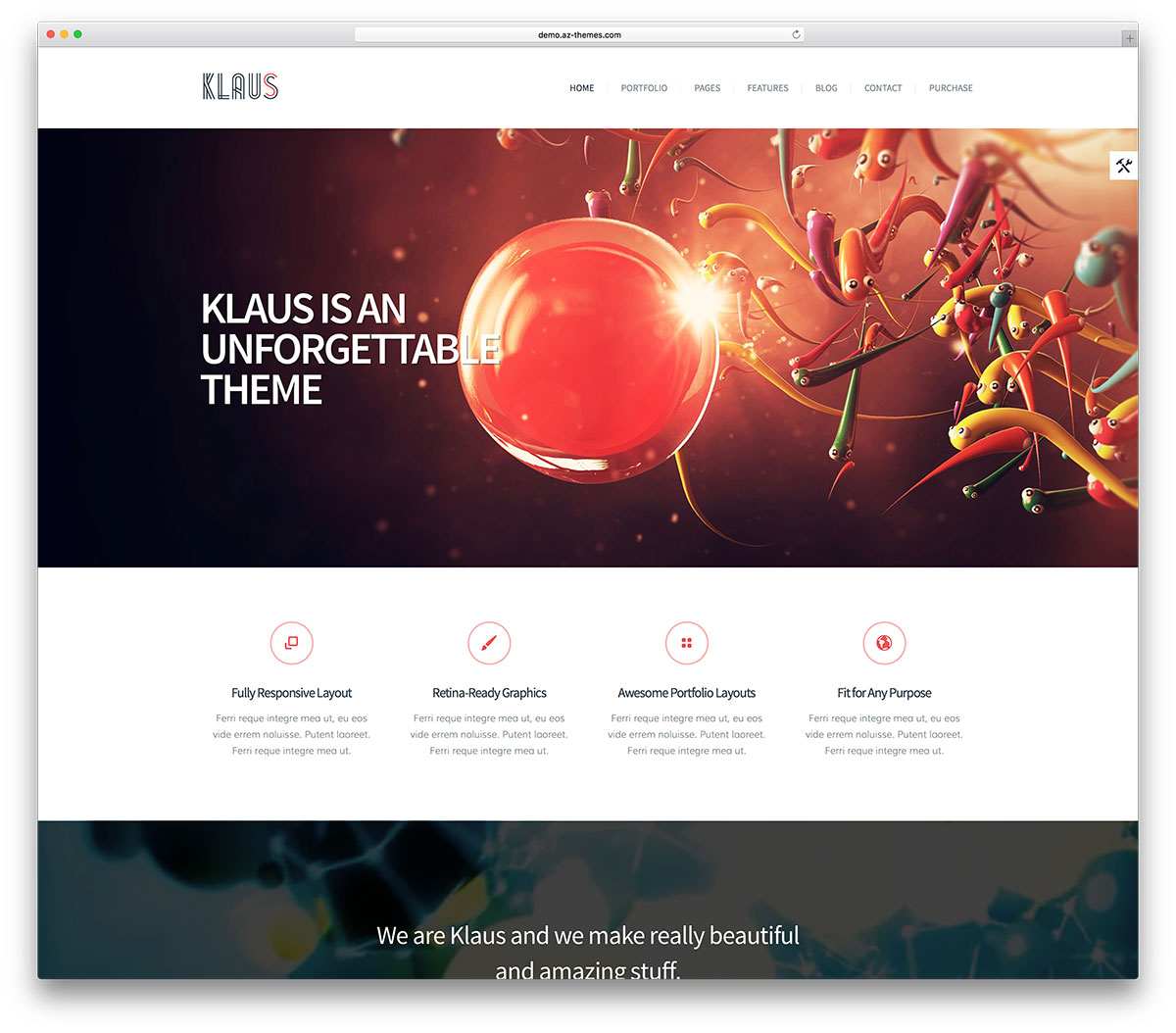 Klaus Simple Business Wordpress Website Template
