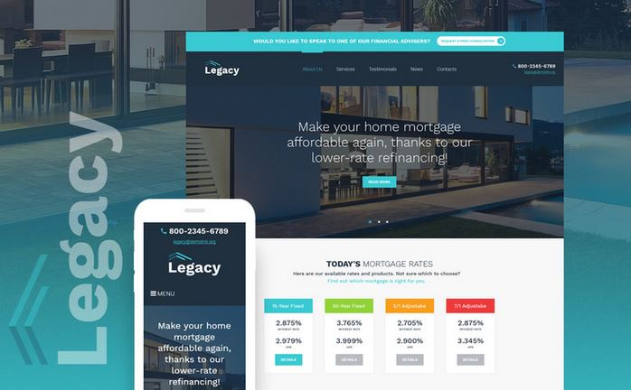 legacy responsive wordpress business theme