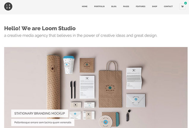loom-creative-one-page-portfolio-wordpress-theme