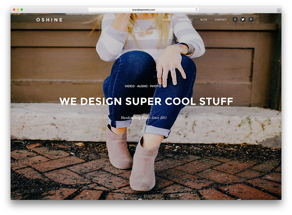 oshine-beautiful-fullscreen-wordpress-theme