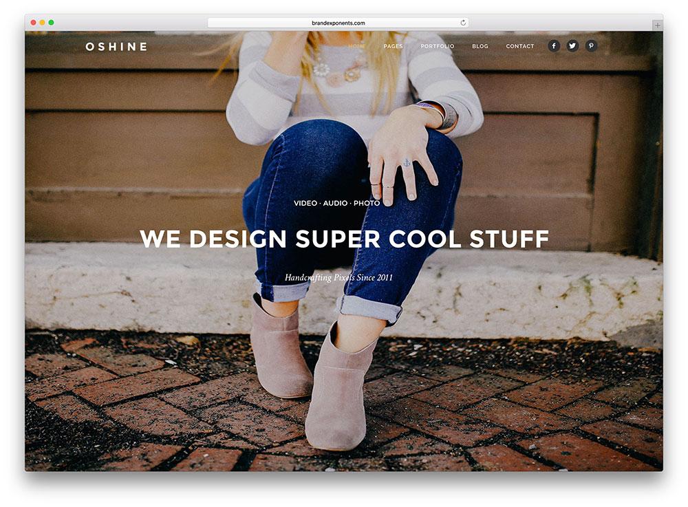 oshine-beautiful-fullscreen-wordpress-theme