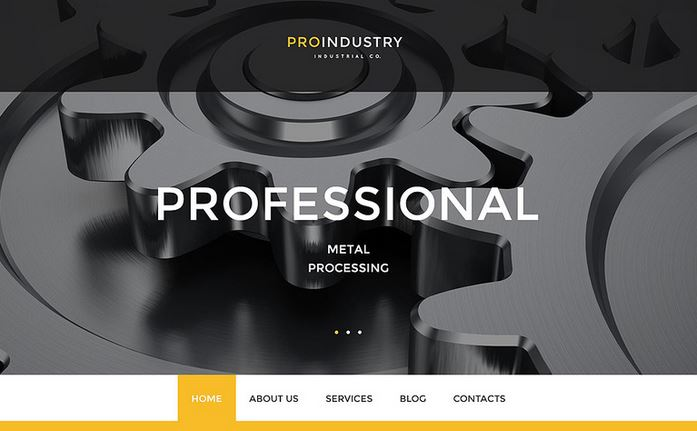 proindustry wordpress responsive business theme