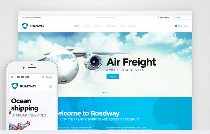 roadway responsive business wordpress theme