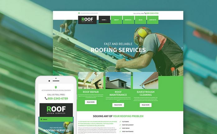 roof responsive wordpress business theme