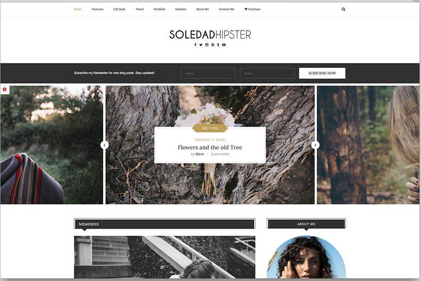 soledad minimal wordpress blog theme