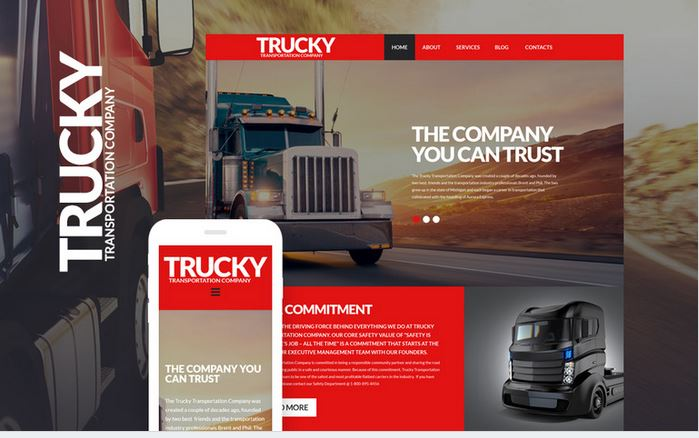 trucky mobile ready wordpress business theme