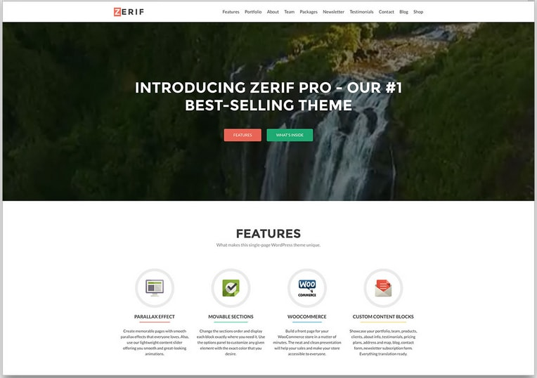 Zerif Pro Boostrap WordPress Theme