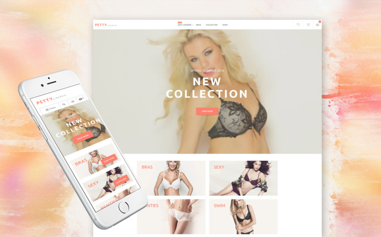 Lingerie Shop Magento Theme