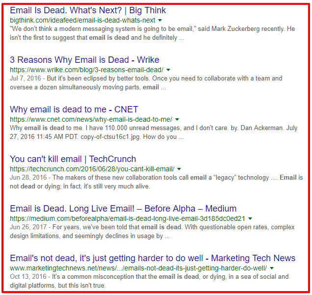 email dead google search