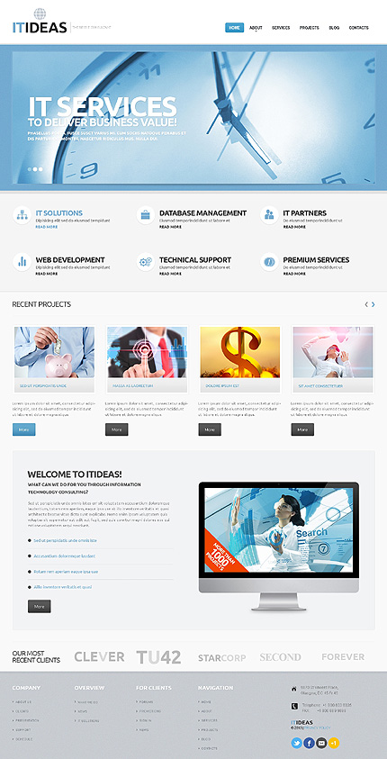 Bestselling WordPress themes - IT Consulting WordPress Theme