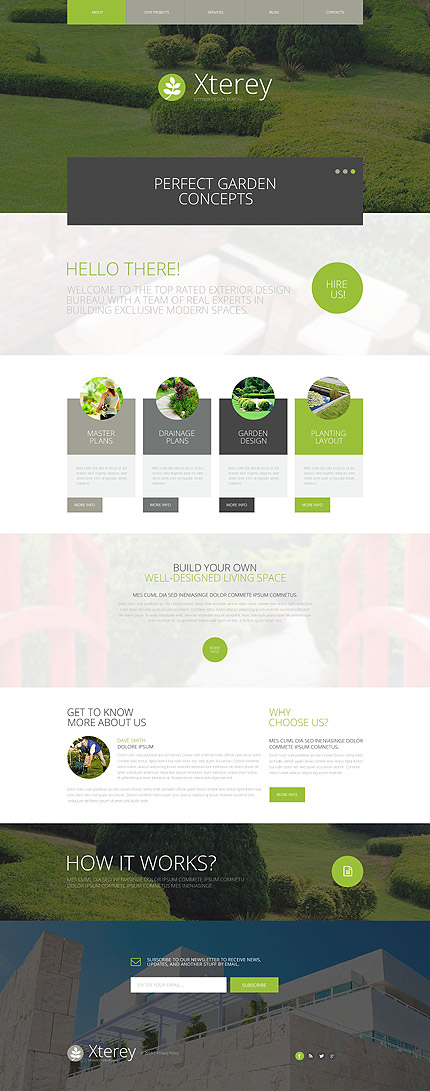 Bestselling WordPress themes - Exterior Design WP Theme