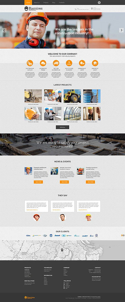 Bestselling WordPress themes - Construction Company WP Theme